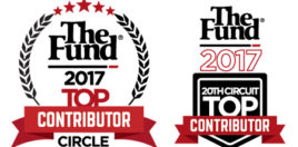 Award Logos for The Fund 2017 Top Contributor Circle and 20th Circuit Top Contributor