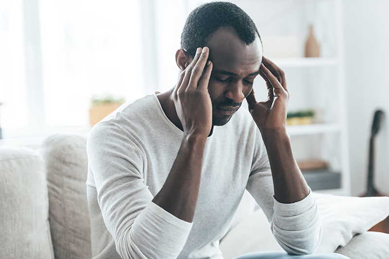 Man struggles with headaches due to high exposure to lead